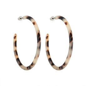 Machete Machete - Large Hoop Earrings - Ash Blonde Tortoise