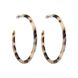 Machete Machete - Large Hoop Earrings - Ash Blonde Tortoise