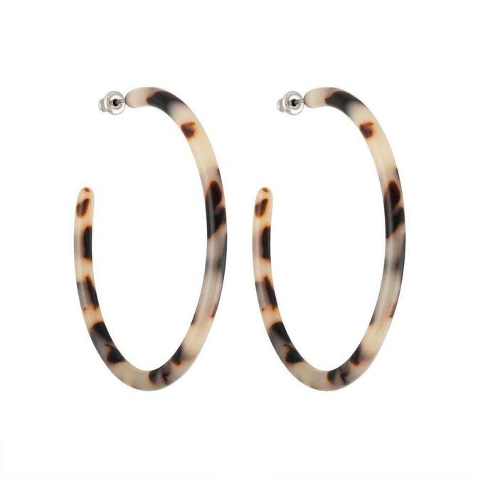 Machete - Large Hoop Earrings - Ash Blonde Tortoise