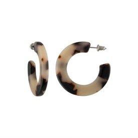 Machete Machete - Kate Hoop Earrings - Ash Blonde Tortoise