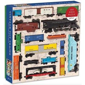 Galison Mudpuppy Vintage Toy Trains Jigsaw Puzzle - 300 Pieces