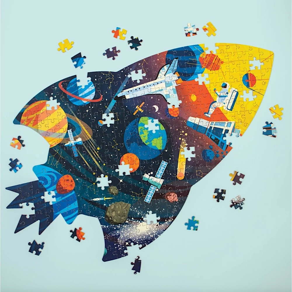 Outer Space Shaped Jigsaw Puzzle - 300 Pieces