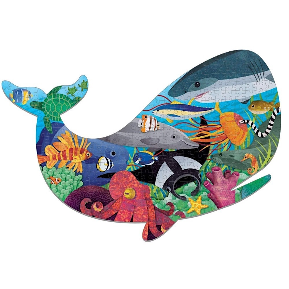 Ocean Life Shaped Jigsaw Puzzle - 300 Pieces