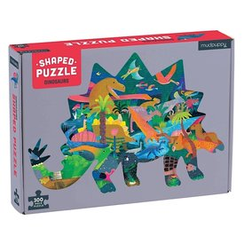 Galison Mudpuppy Dinosaurs Shaped Jigsaw Puzzle - 300 Pieces