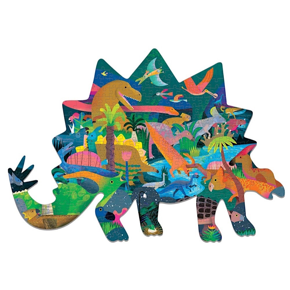 Dinosaurs Shaped Jigsaw Puzzle - 300 Pieces