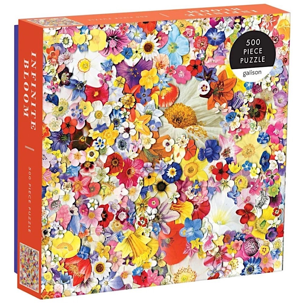 Galison Mudpuppy Infinite Bloom Jigsaw Puzzle - 500 Pieces