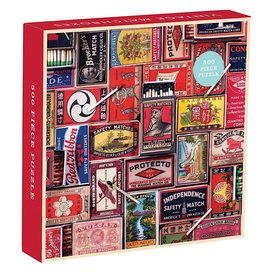 Galison Mudpuppy Vintage Matchboxes Jigsaw Puzzle - 500 Pieces