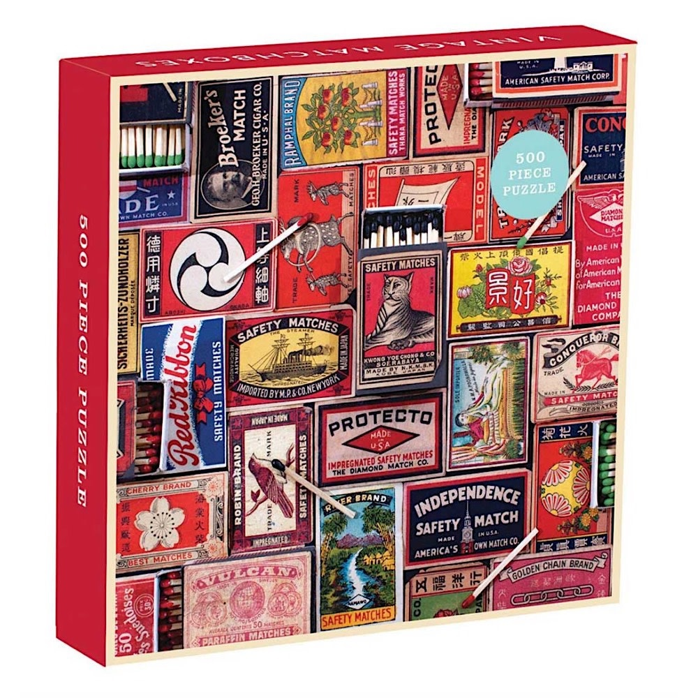 Vintage Matchboxes Jigsaw Puzzle - 500 Pieces