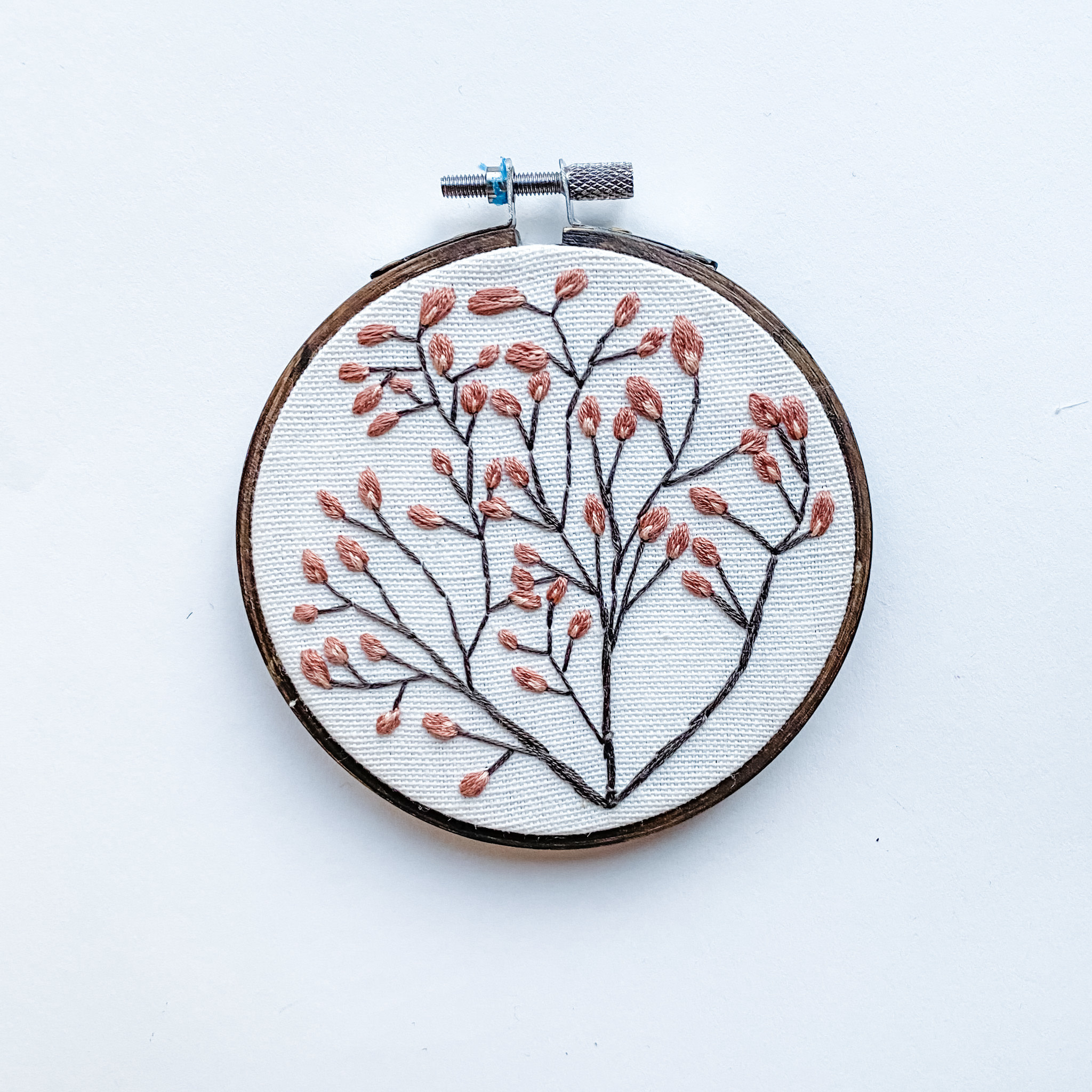 "Embroidered Hoop 4"" - Tree"