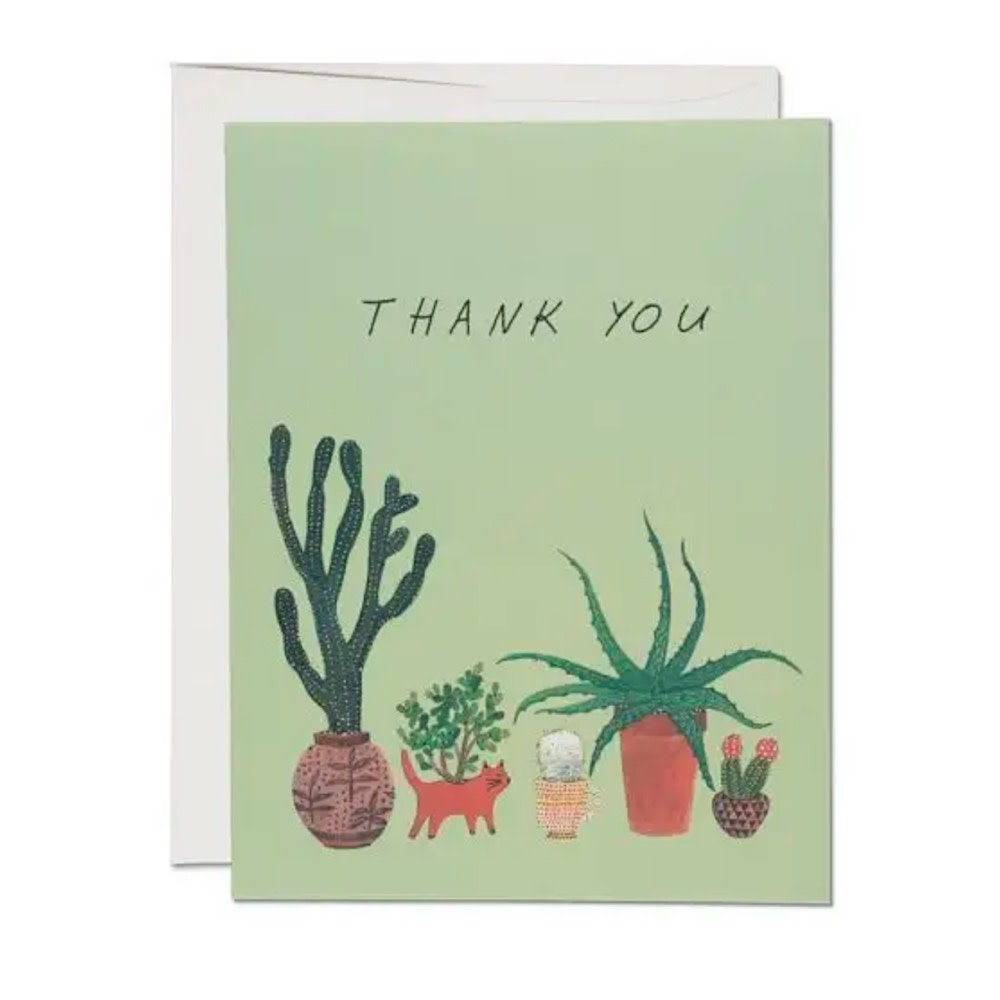 Red Cap Cards Cactus Thank You Card