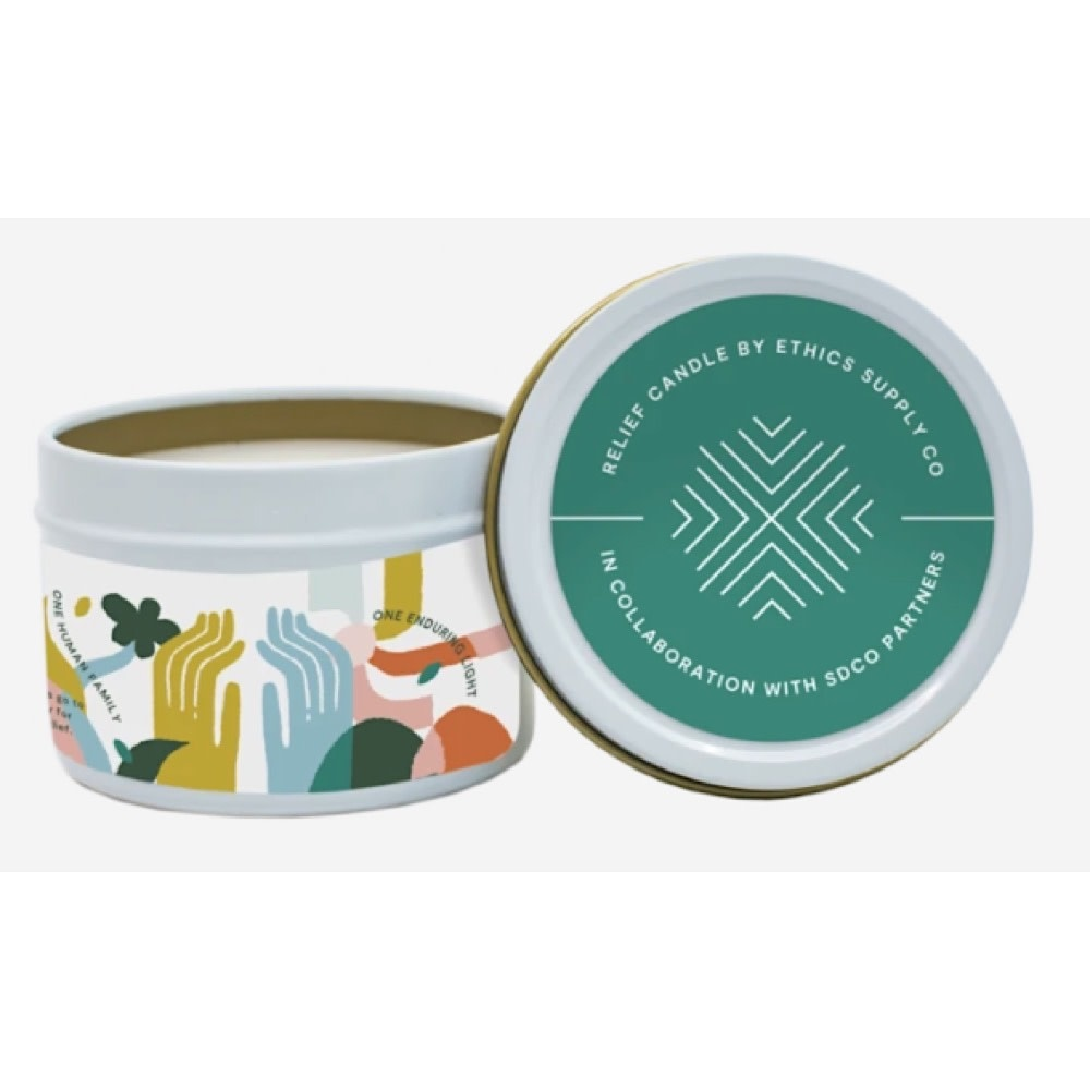 Ethics Supply Co. Ethics Supply Co. Travel Candle - GiveDirectly Covid-19 Relief - 3.8oz