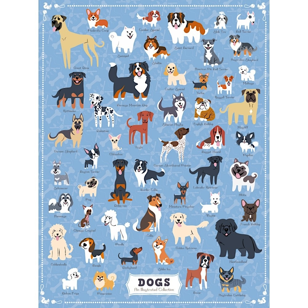 True South Puzzle Illustrated Dogs - 500 Pieces
