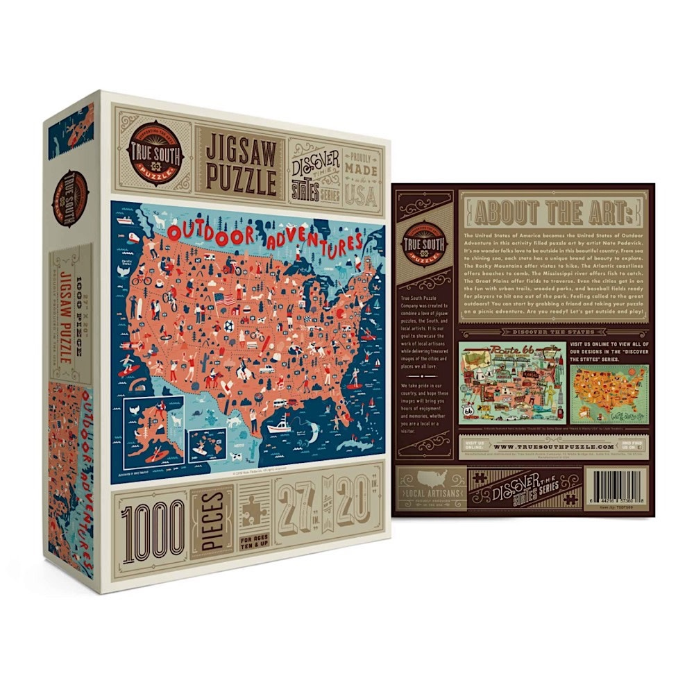 True South Puzzle True South Puzzle Outdoor Adventures - 1000 Pieces