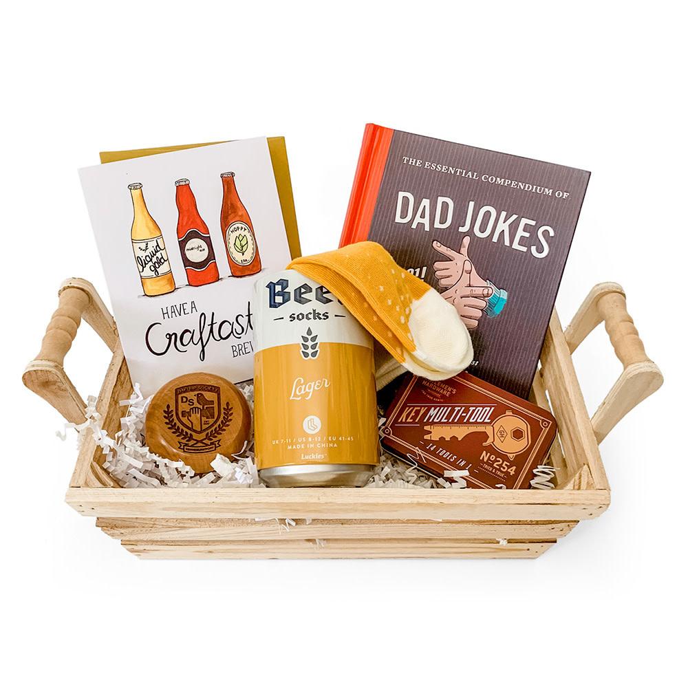 Daytrip Society Gift Basket - Dad Jokes