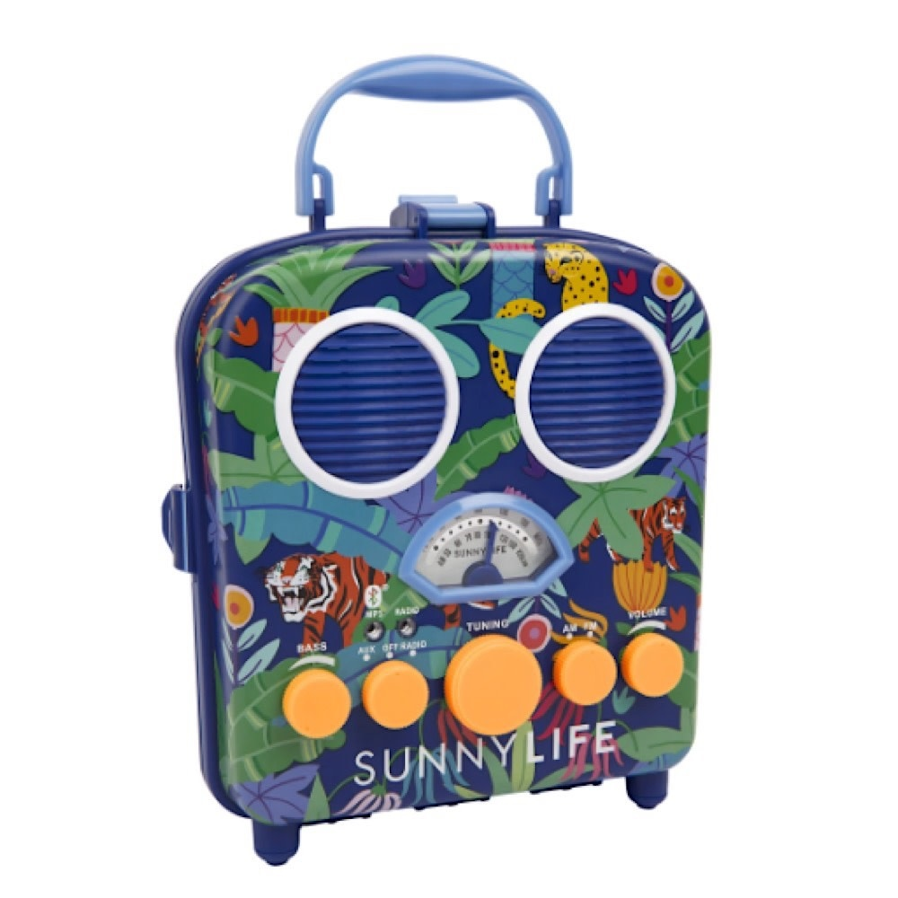 Sunnylife Sunnylife Beach Sounds Portable Speaker and Radio - Jungle