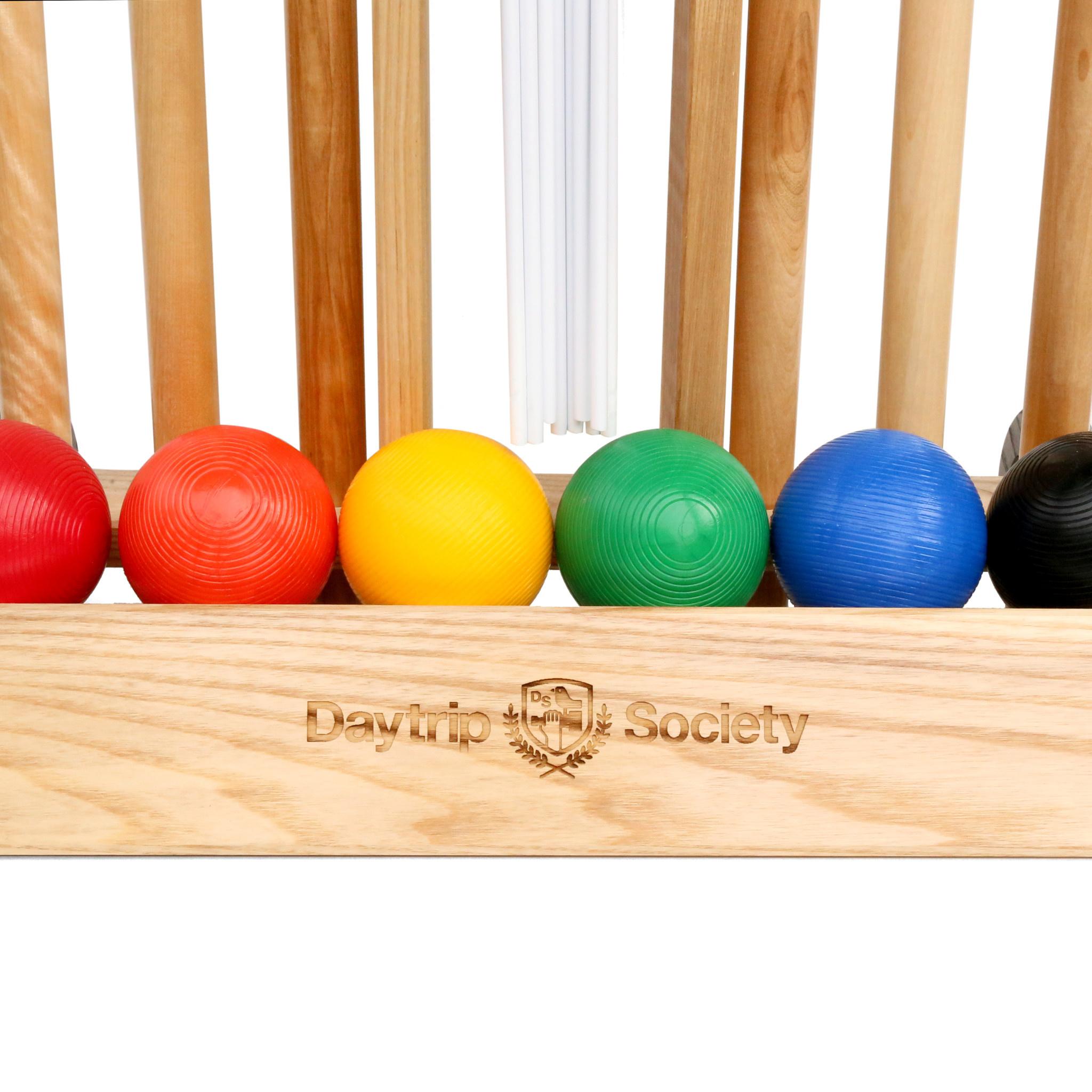 Daytrip Society Scottsdale Croquet Set & Caddy