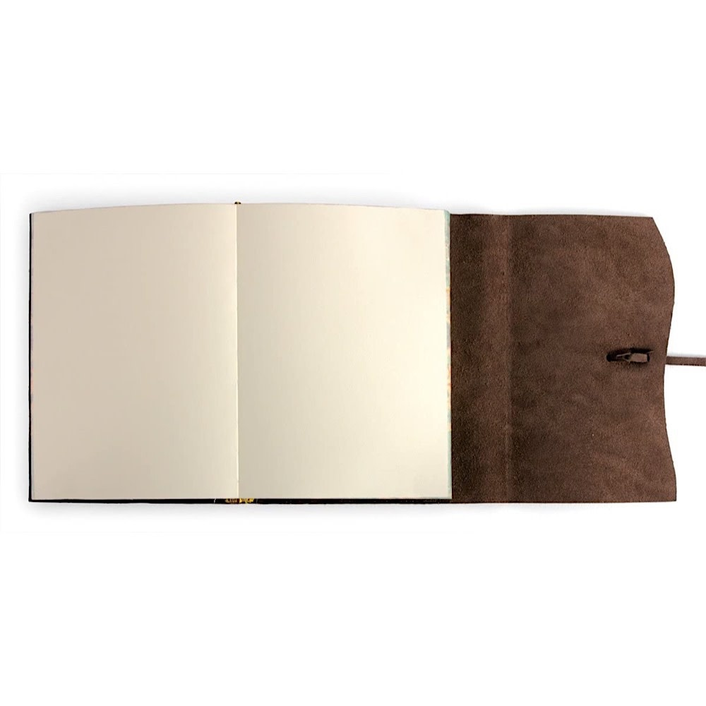 Cavallini Leather Roma Lussa Journal - Chocolate