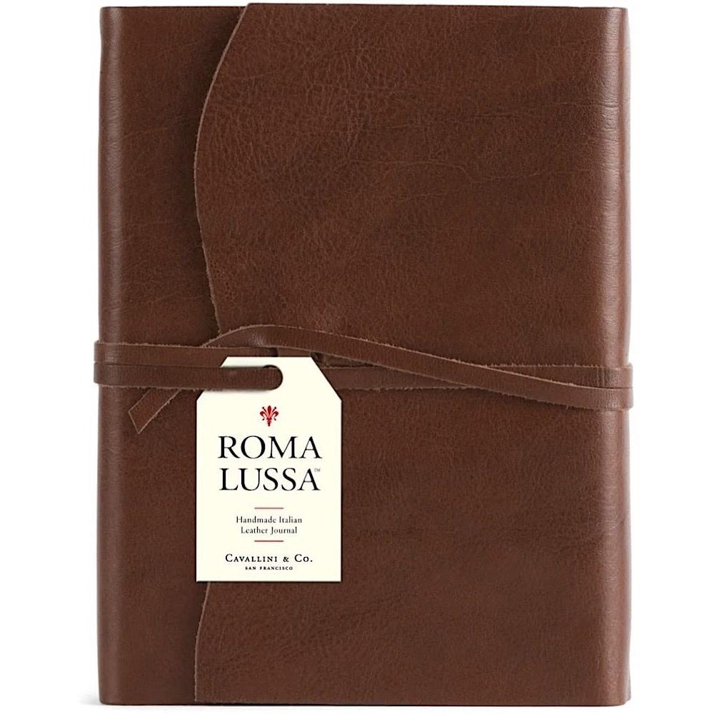 Cavallini Leather Roma Lussa Journal - Chocolate