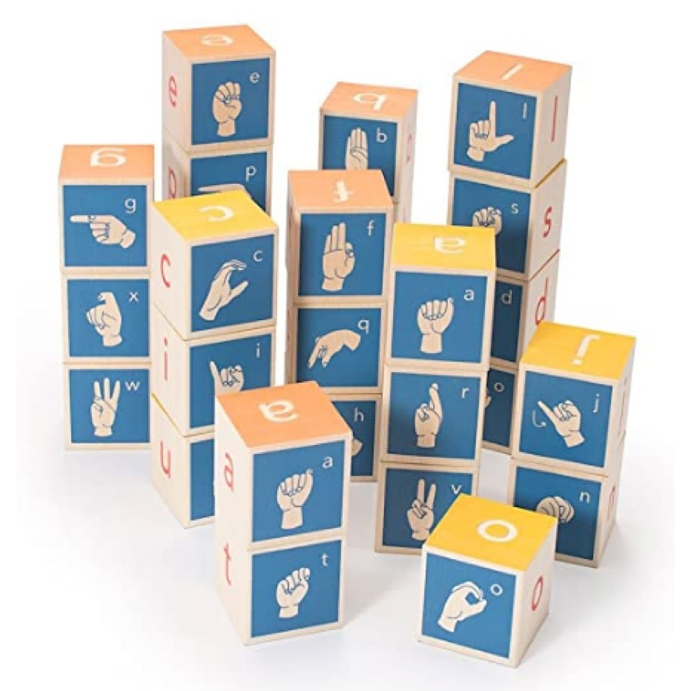 Uncle Goose Sign Language Alphabet Blocks