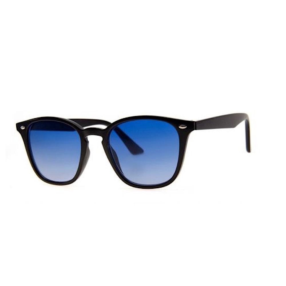 AJ Morgan P. Edwards Sunglasses - Black with Blue Lens