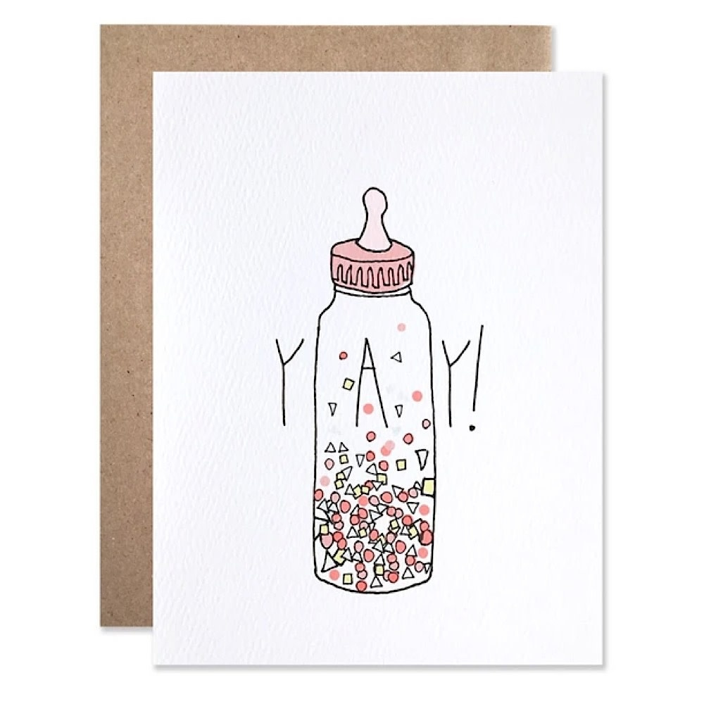 Hartland Brooklyn Card - Baby Yay Confetti Bottle