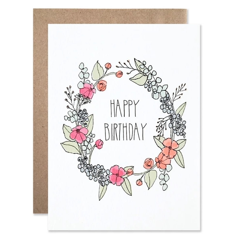 Hartland Brooklyn Card - Birthday Wreath