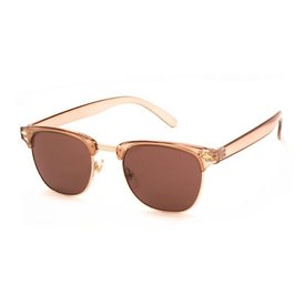 AJ Morgan Soho Sunglasses - Crystal/Light Brown