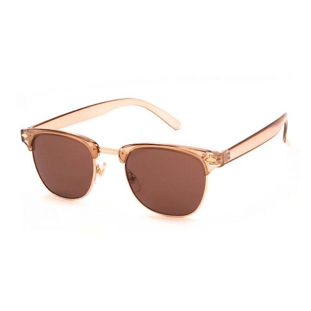 AJ Morgan Soho Sunglasses - Crystal/Light Brown