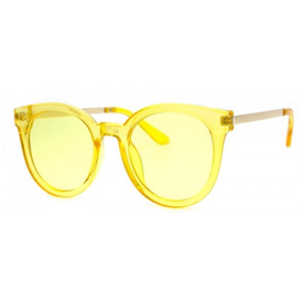 AJ Morgan Hi There Sunglasses - Crystal Yellow
