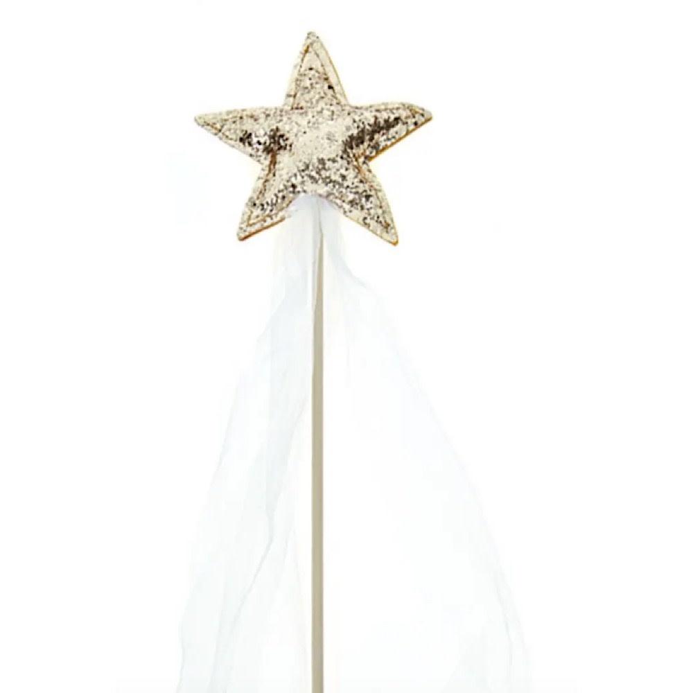 Bailey & Ava Glitter Sparkle Magic Wand - Gold/White