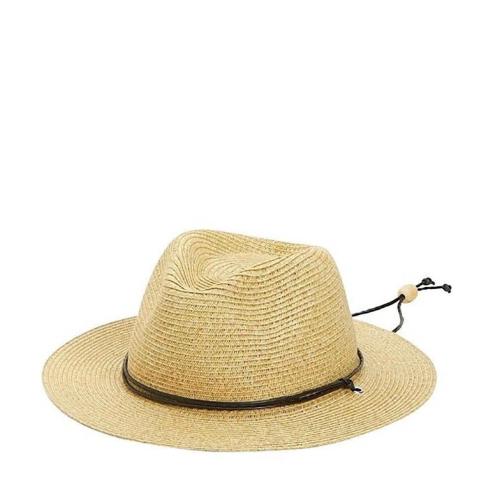 Kids Sun Hat - Paper Braided Fedora with Chin Strap