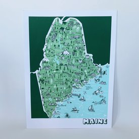 We Are Brainstorm Maine Map Print - 18x24