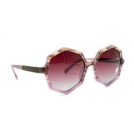 Shwood Shwood Aurora Sunglasses - Lavender/Elm Burl - Rose Fade