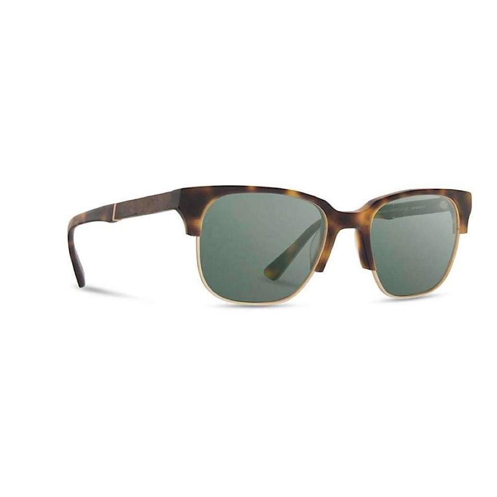 Shwood Newport Sunglasses - Matte Brindle/Elm Burl