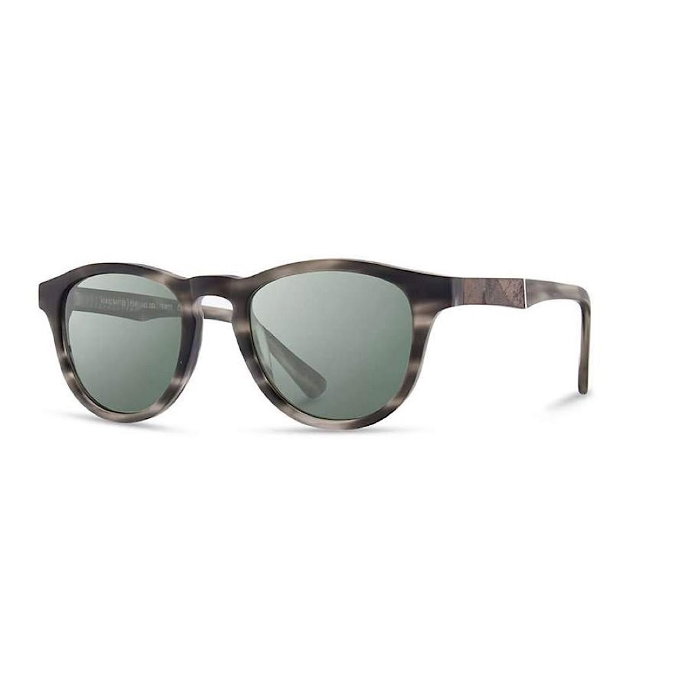 Shwood Francis Sunglasses - Matte Grey/Elm