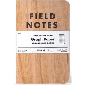 Field Notes Cherry Wood Cover - Graph