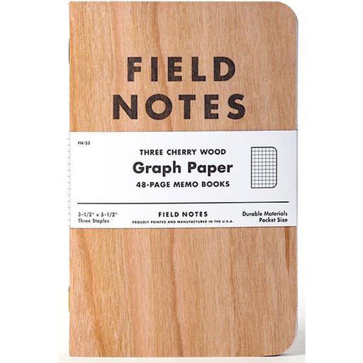 Field Notes Field Notes - Cherry Wood Cover - Graph