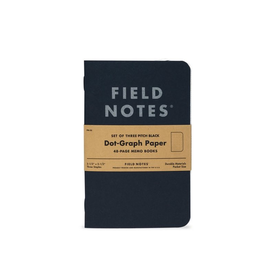 Field Notes Dot Graph Three Pack - Black