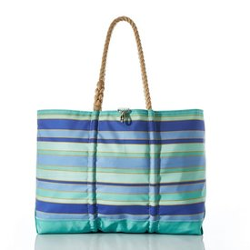 Sea Bags Sea Bags Sea Glass Stripe Ogunquit Beach Tote - Large