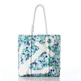 Sea Bags Sea Bags White Anchor on Sea Glass Tote - Medium
