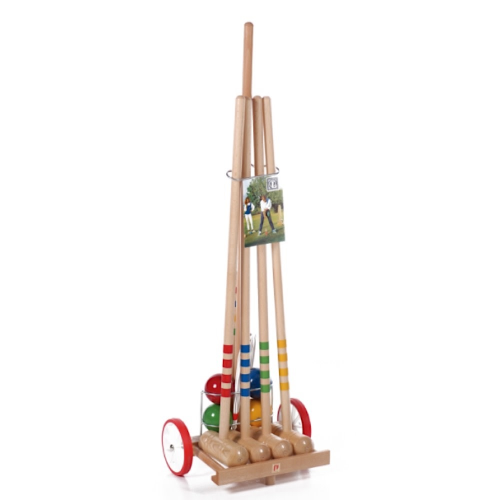 4 Player Croquet Set with Trolley