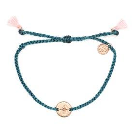 Pura Vida Pura Vida Charm Bracelet - Compass Rose - Rose Gold