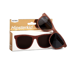 Fctry Hipsterkid Golds Sunglasses - Wood