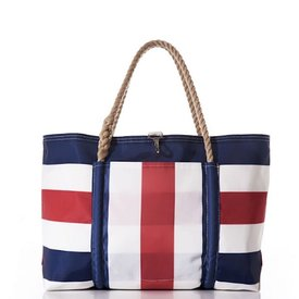 Sea Bags Sea Bags Navy Red Pier Tote - Large