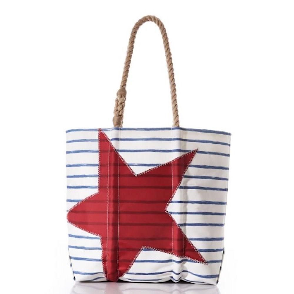 Sea Bags Sea Bags Breton Stripe Star Tote - Medium