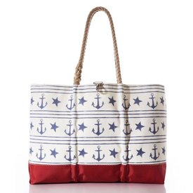 Sea Bags Sea Bags Sailor's Stripe and Star Tote - Large