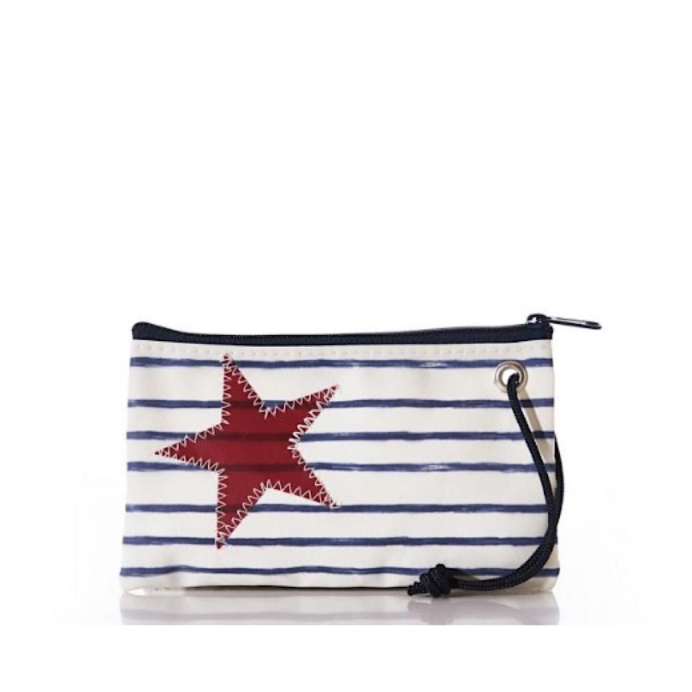 Sea Bags Wristlet - Breton Stripe and Star