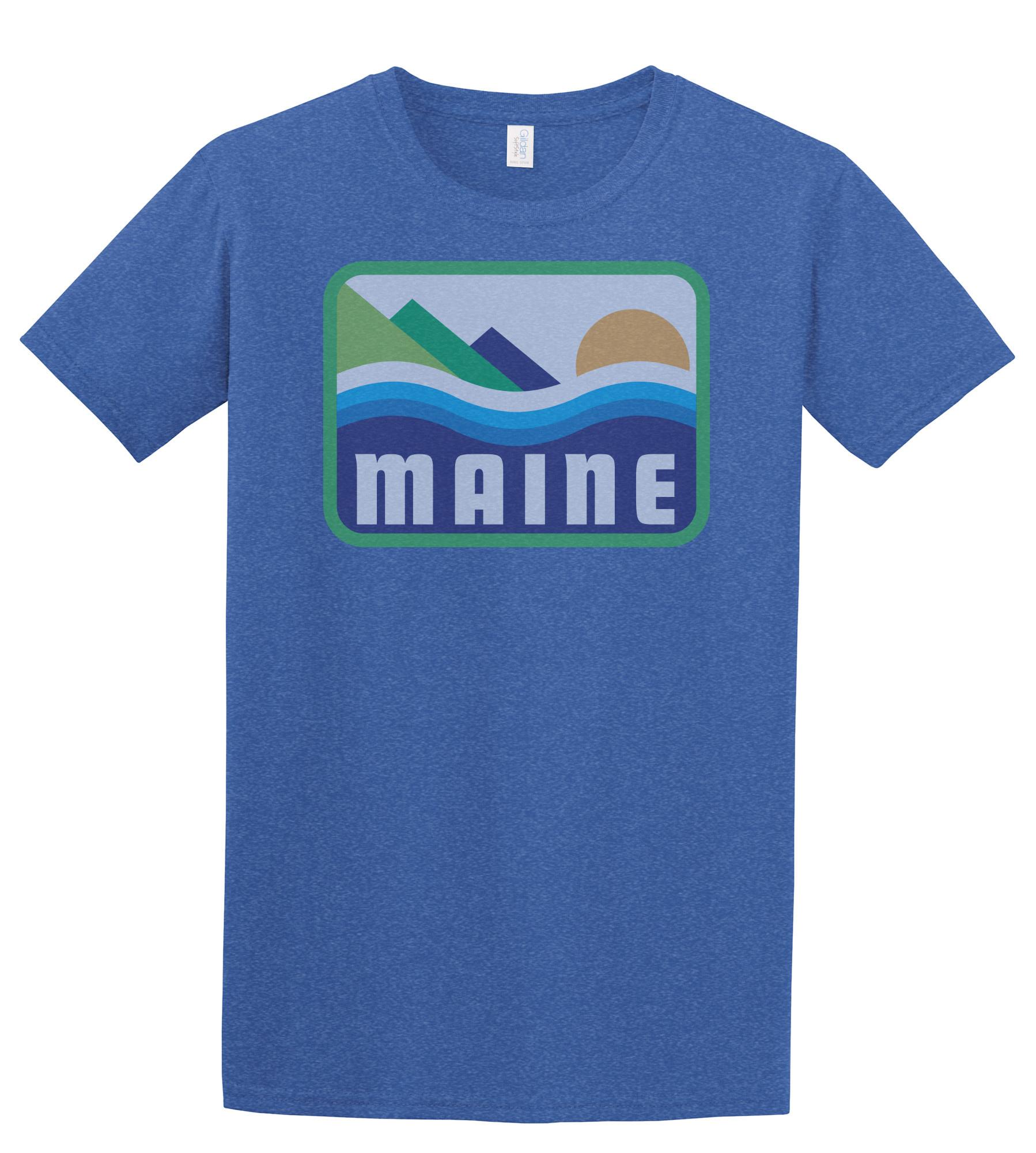 Woods & Sea Woods & Sea - Patamania T-Shirt - Adult - Heather Royal Blue