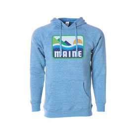 Woods & Sea Woods & Sea - Patamania Adult Hoodie - Heather Pacific Blue