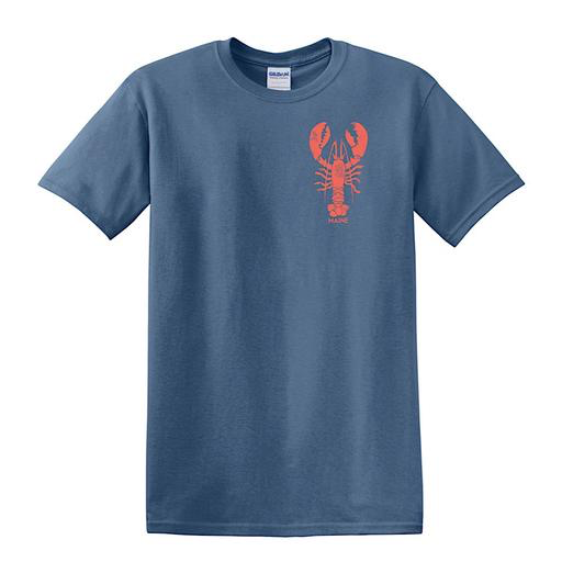 Woods & Sea Woods & Sea - Giant Lobster - Adult T-Shirt - Stone Blue